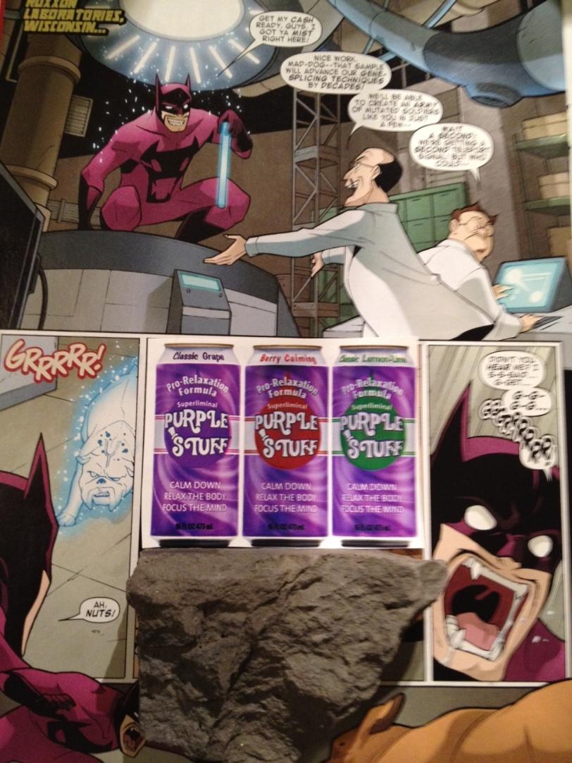 Mr Purpleman in Purple Stuff comics